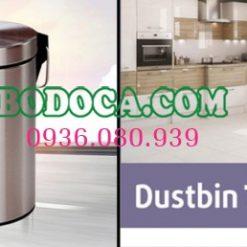 Thùng rác inox đạp chân 7L Bodoca
